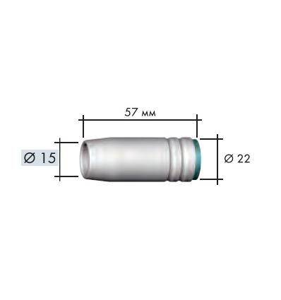 Газовое сопло, коническое D 15,0/57,0 мм